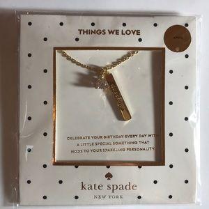 Kate Spade April Birthday Necklace Diamond NWT
